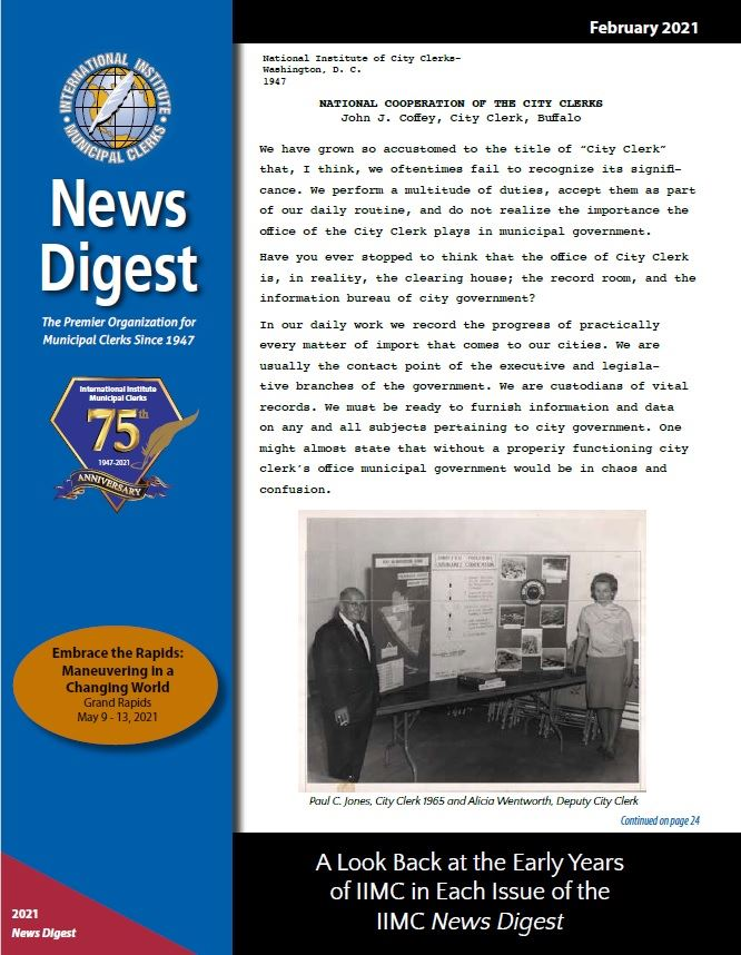 February 2021 News Digest Cover