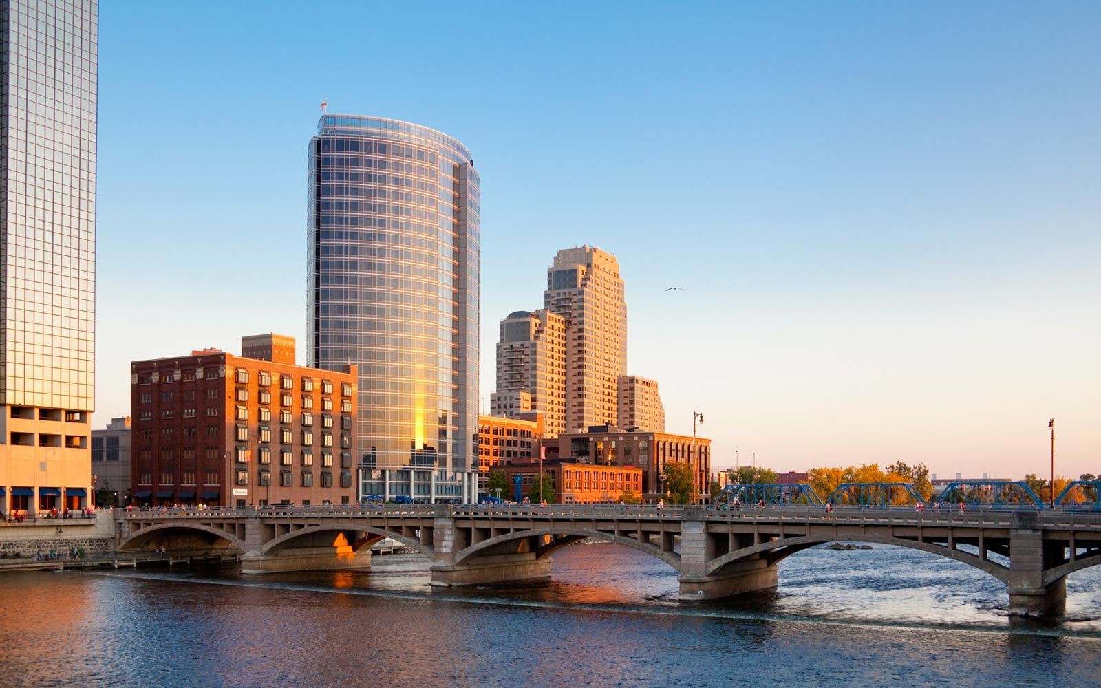Grand Rapids Michigan waterfront view Opens in new window